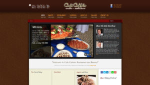 Cullinary Restaurant Web Site Design