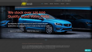 Salvage Yard Used Volvo Parts Web Site Design