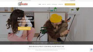 Screenshot of Alcala Pest's Website