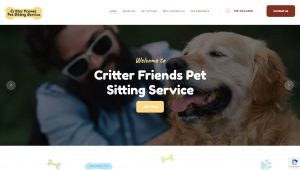 Screenshot of Critter Friends' Website